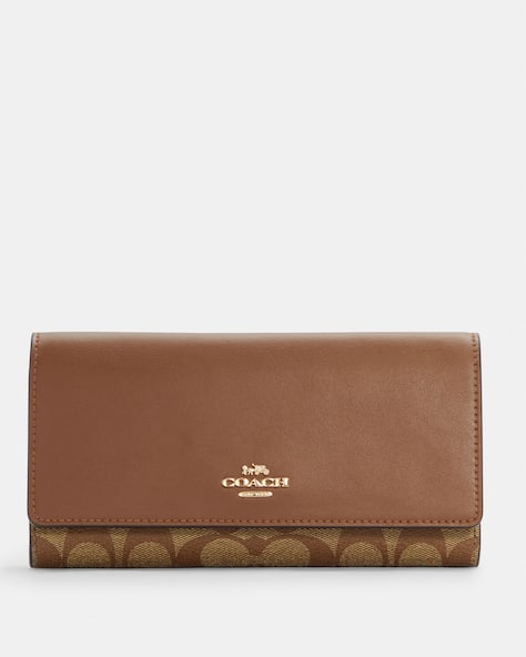 Slim Trifold Wallet In Signature Canvas