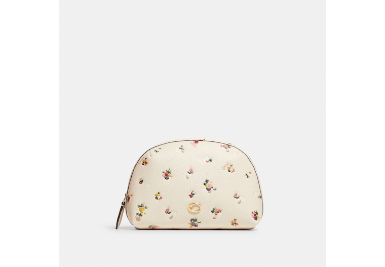 Julienne Cosmetic Case 17 With Paint Dab Floral Print image number 0