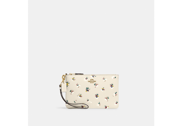 Small Wristlet With Floral Print image number 0