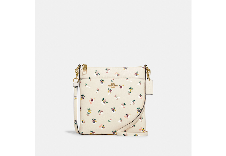 Kitt Messenger Crossbody With Paint Dab Floral Print image number 0