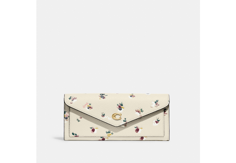 Wyn Soft Wallet With Paint Dab Floral Print image number 0