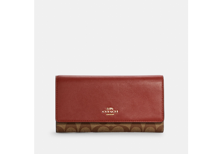 Slim Trifold Wallet In Signature Canvas image number 0