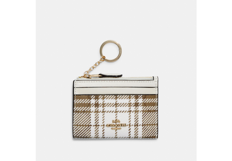 Mini Skinny Id Case In Signature Canvas With Hunting Fishing Plaid Print image number 0