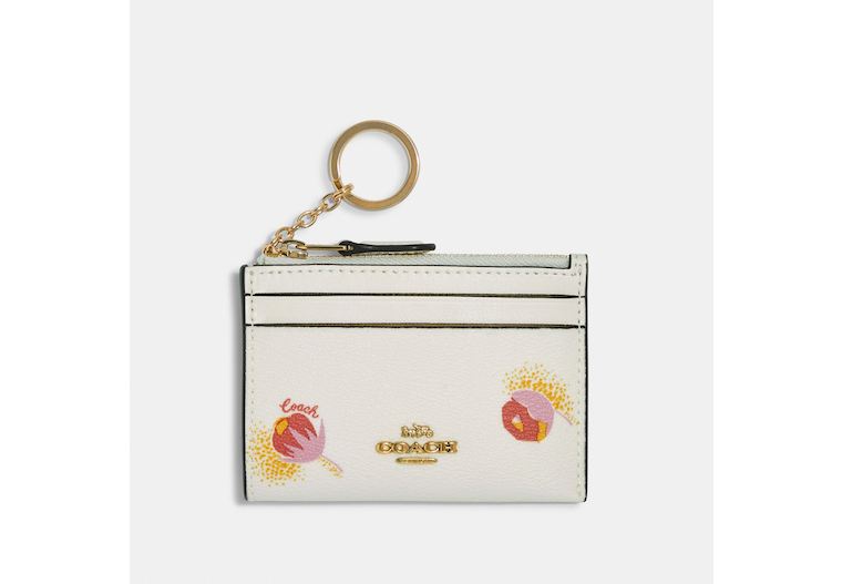 Mini Skinny Id Case With Pop Floral Print image number 0
