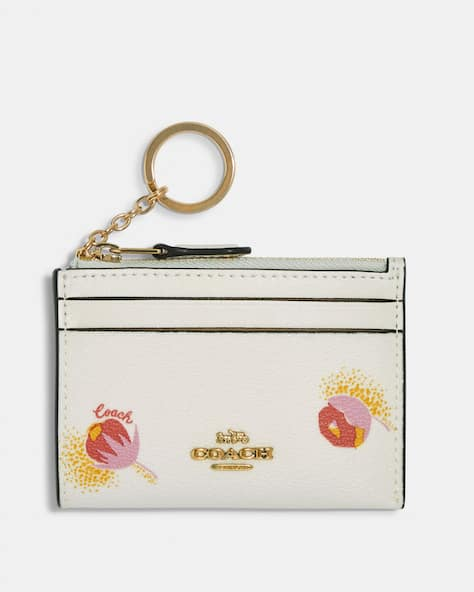 Mini Skinny Id Case With Pop Floral Print