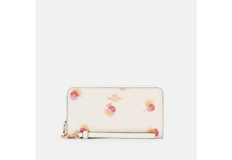 Long Zip Around Wallet With Pop Floral Print image number 0