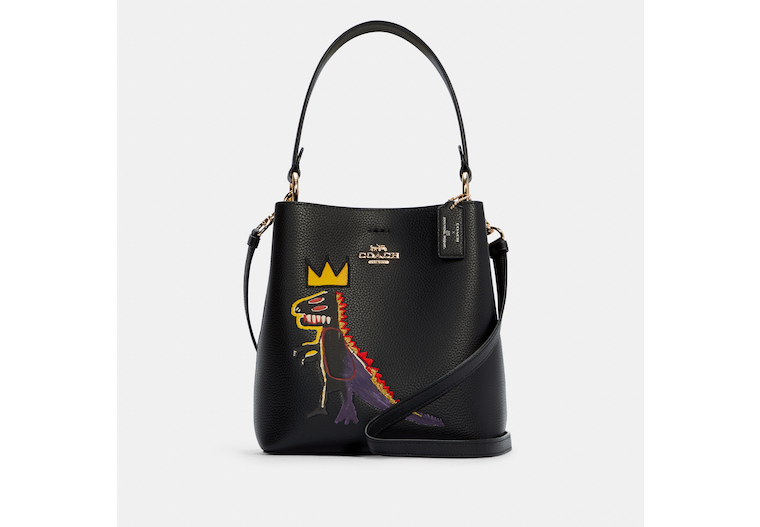 Coach X Jean Michel Basquiat Small Town Bucket Bag image number 0