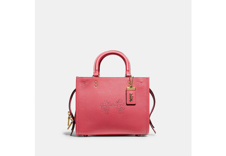 Disney X Coach Rogue 25 With Mickey Mouse And Minnie Mouse image number 0