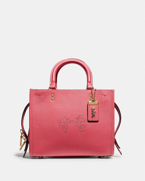 Disney X Coach Rogue 25 With Mickey Mouse And Minnie Mouse