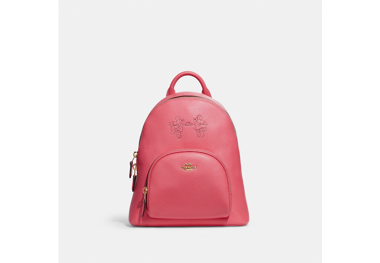 Disney X Coach Carrie Backpack 23 With Mickey Mouse And Minnie Mouse image number 0