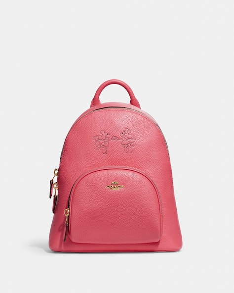 Disney X Coach Carrie Backpack 23 With Mickey Mouse And Minnie Mouse