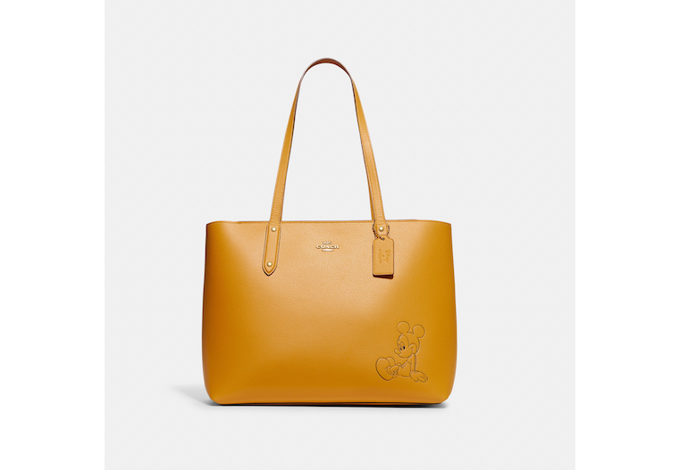 Disney X Coach Central Tote With Zip With Mickey Mouse image number 0