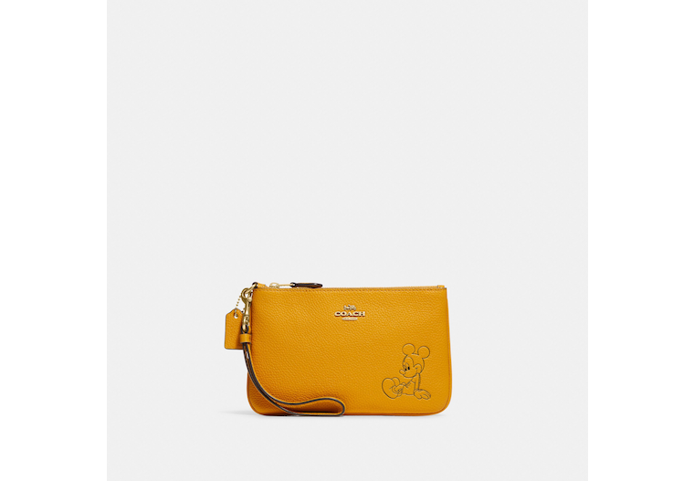 Disney X Coach Small Wristlet With Mickey Mouse image number 0