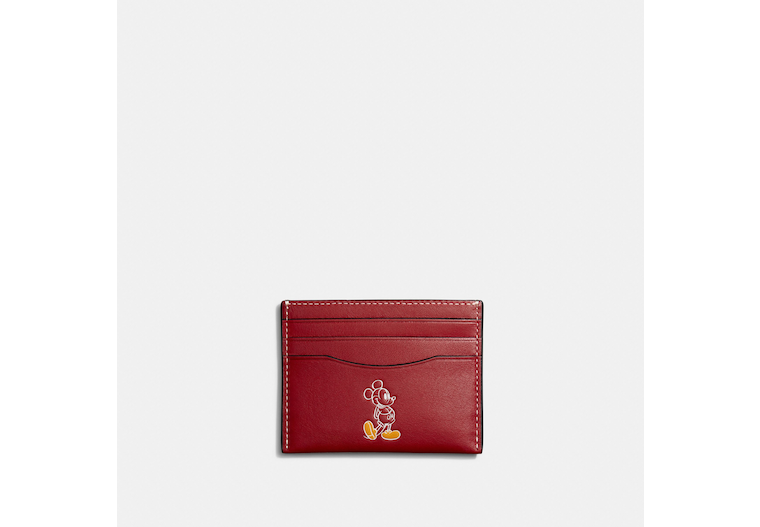 Disney X Coach Card Case With Mickey Mouse image number 0