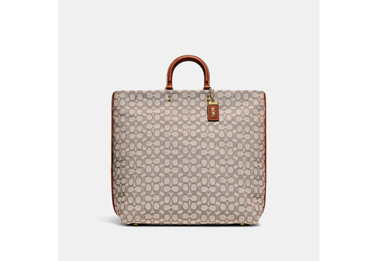 Rogue Tote In Signature Textile Jacquard image number 0