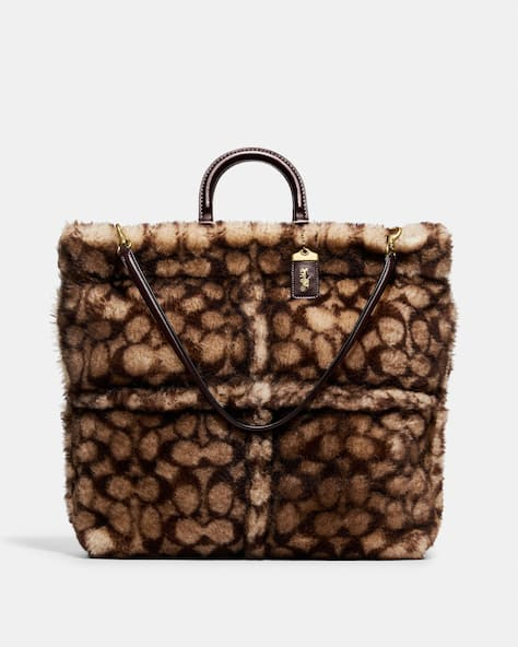 Rogue Tote In Signature Shearling
