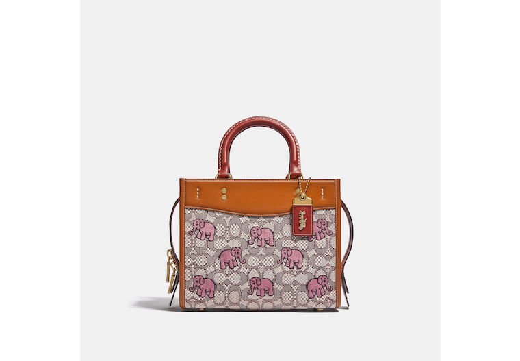 Rogue 25 In Signature Textile Jacquard With Embroidered Elephant Motif image number 0
