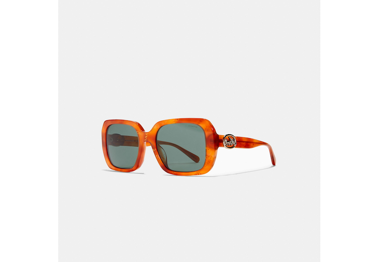 Horse And Carriage Square Sunglasses image number 0