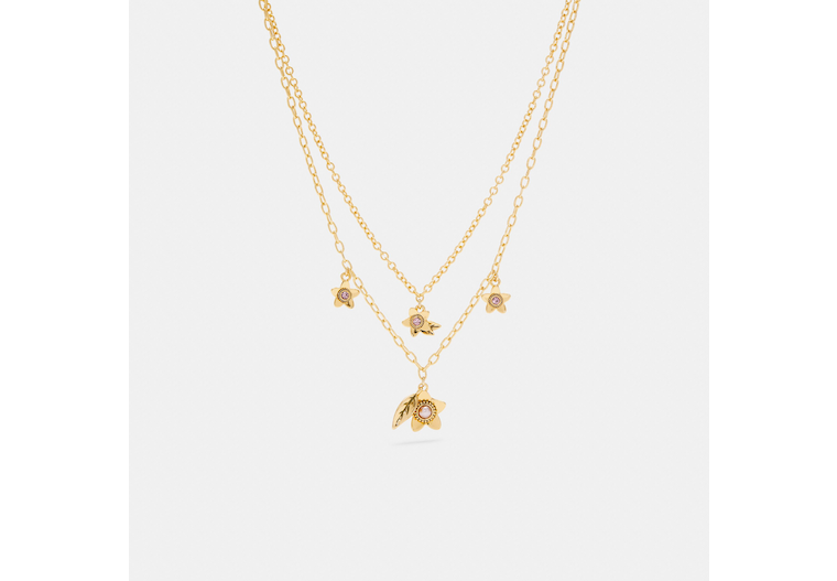 Wildflower Pearl Double Chain Necklace image number 0