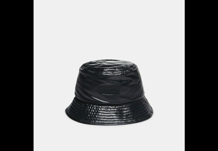 Reversible Signature Nylon Jacquard Bucket Hat image number 0