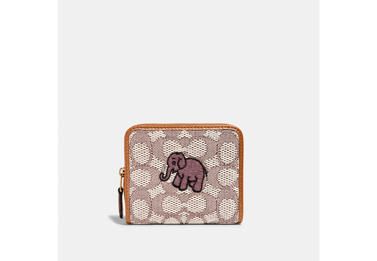 Billfold Wallet In Signature Textile Jacquard With Elephant Motif Embroidery image number 0