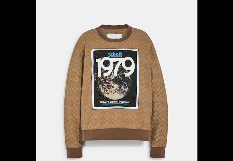 Coach X Schott N.Y.C. Signature Sweatshirt In Organic Cotton image number 0