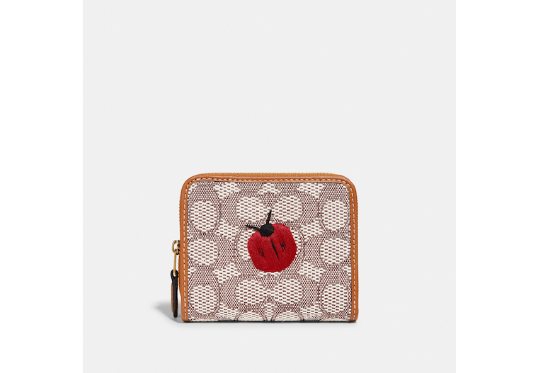 Billfold Wallet In Signature Textile Jacquard With Ladybug Motif Embroidery image number 0