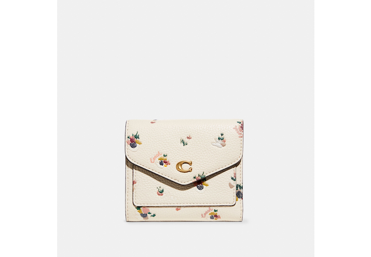 Wyn Small Wallet With Paint Dab Floral Print image number 0