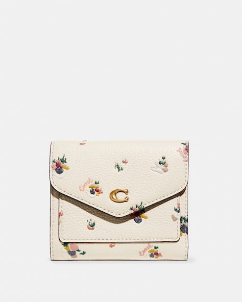 Wyn Small Wallet With Paint Dab Floral Print