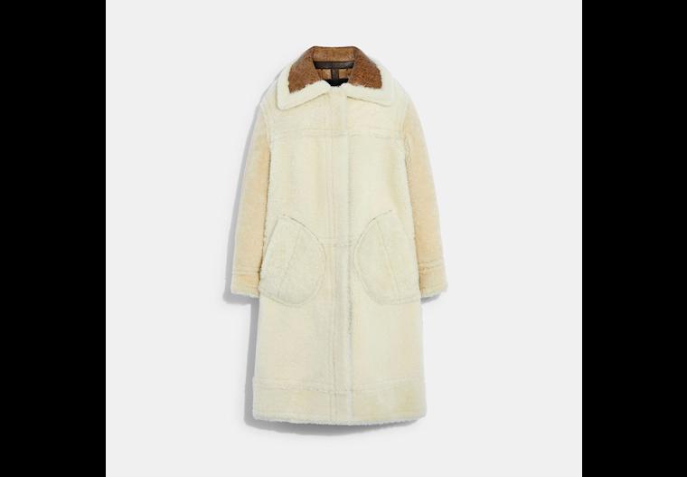 Long Shearling Coat image number 0