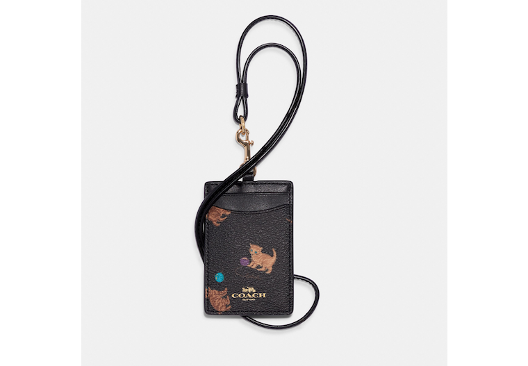 Id Lanyard With Cat Print image number 0