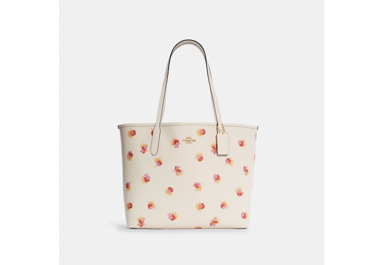 City Tote With Pop Floral Print image number 0