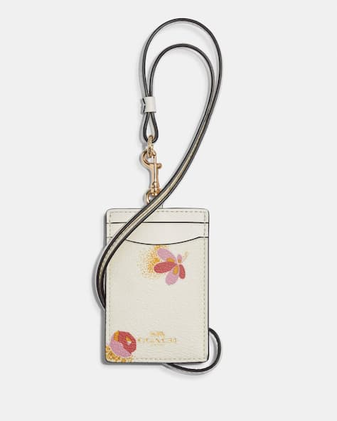 Id Lanyard With Pop Floral Print