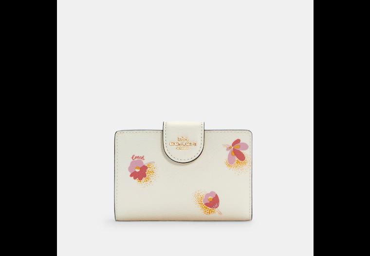Medium Corner Zip Wallet With Pop Floral Print image number 0