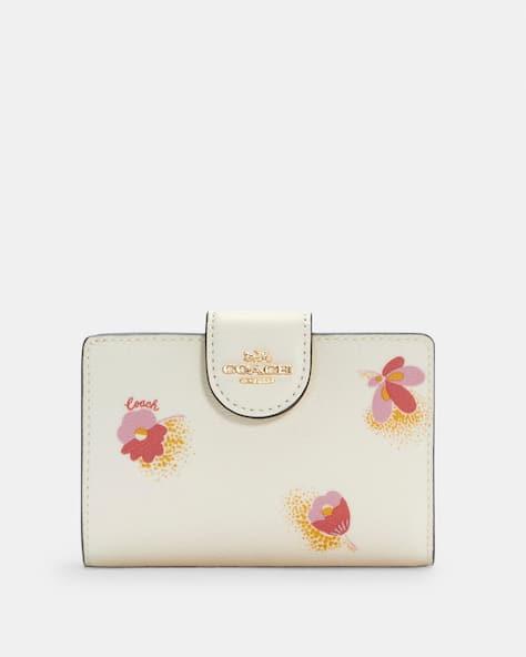 Medium Corner Zip Wallet With Pop Floral Print