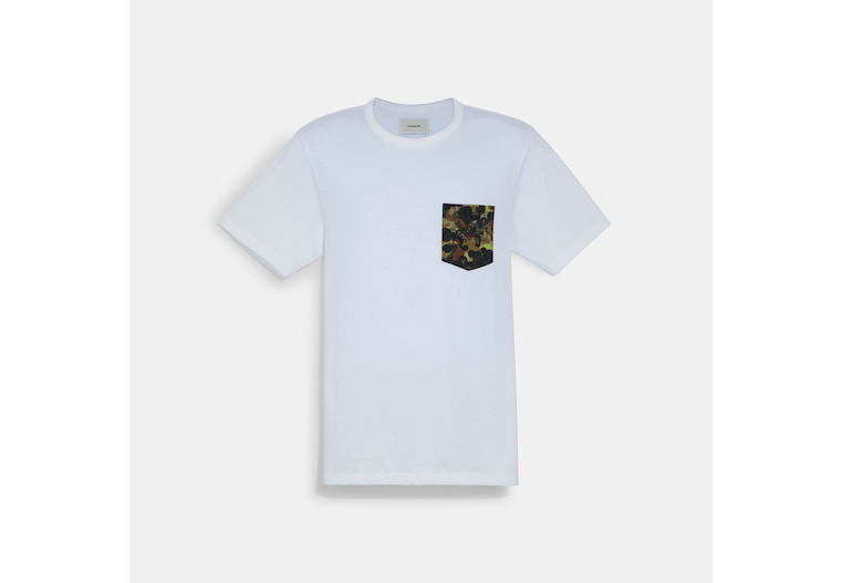 Solid Camo Print Pocket T Shirt In Organic Cotton image number 0