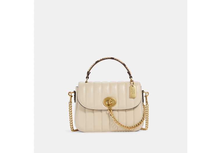Coach X Jennifer Lopez Marlie Top Handle Satchel With Linear Quilting image number 0