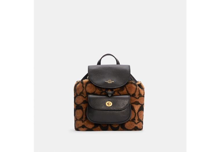 Coach X Jennifer Lopez Pennie Backpack 22 In Signature Shearling image number 0