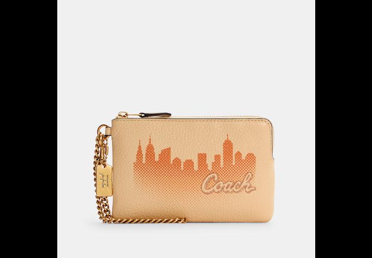 Coach X Jennifer Lopez Corner Zip Wristlet With Nyc Skyline image number 0