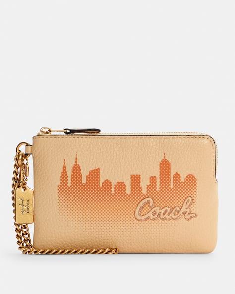 Coach X Jennifer Lopez Corner Zip Wristlet With Nyc Skyline