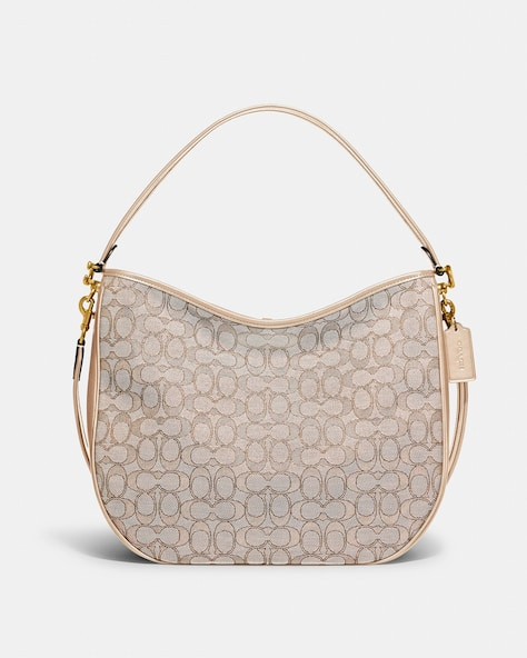 Soft Tabby Hobo In Signature Jacquard