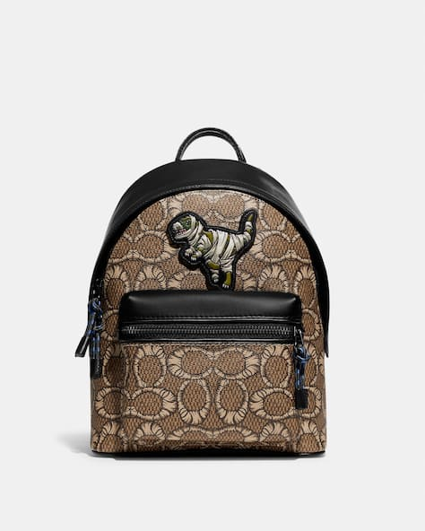 Coach X Michael B. Jordan Charter Backpack In Mummified Signature Canvas With Rexy