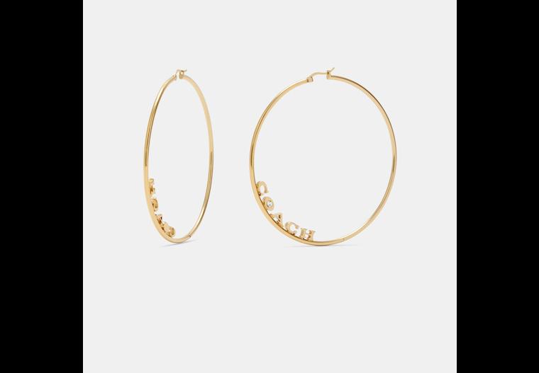 Signature Large Hoop Earrings image number 0