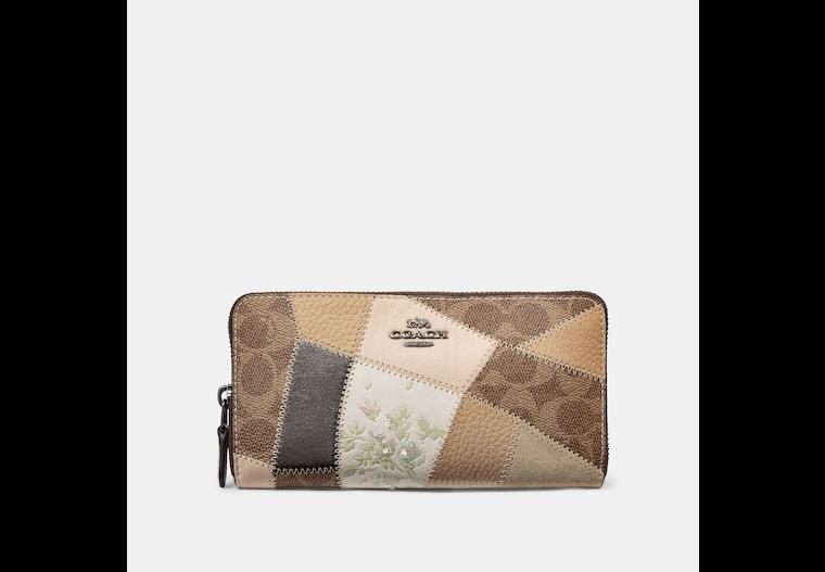 Restored Accordion Zip Wallet With Signature Patchwork image number 0