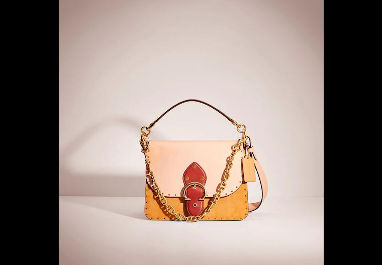 Restored Beat Shoulder Bag In Colorblock With Rivets image number 0