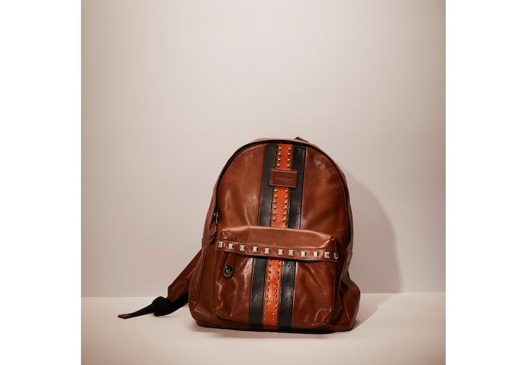 Upcrafted Campus Backpack With Varsity Stripe image number 0