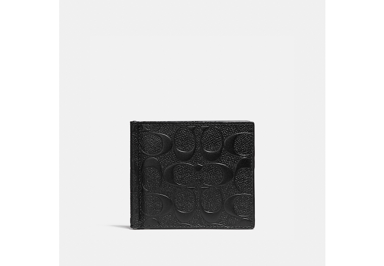Money Clip Billfold In Signature Leather image number 0