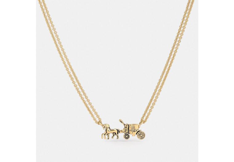 Horse And Carriage Double Chain Necklace image number 0