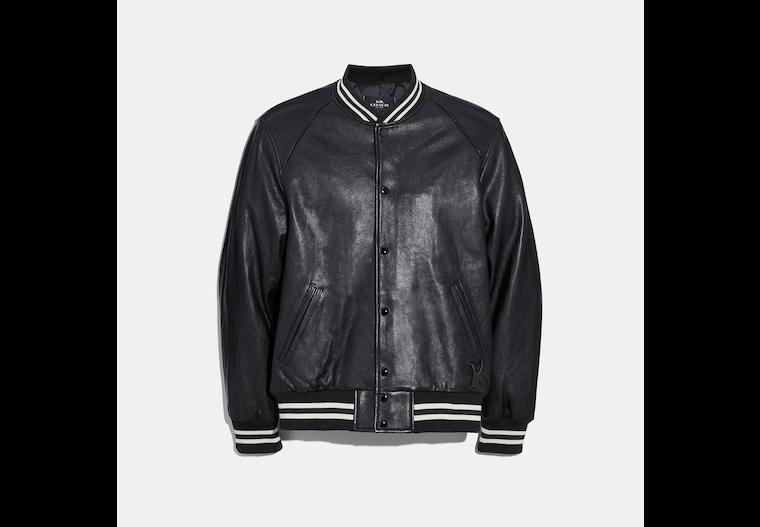 Leather Varsity Jacket image number 0