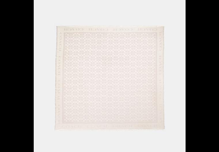 Signature Jacquard Oversized Square Scarf image number 0
